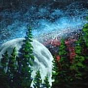 Stars And Moon Art Print