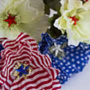 Stars And Stripes Bouquet Art Print