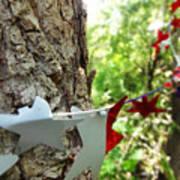 Stars Around Tree 1 Art Print
