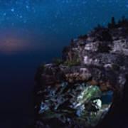 Stars Over The Grotto Art Print