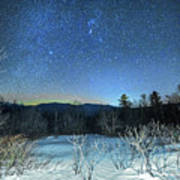 Stars Over The New Hampshire White Mountains Art Print