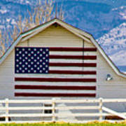Stars Stripes And Barns Art Print