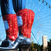 State Fair Of Texas Icons Art Print