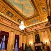 State House Christmas Art Print
