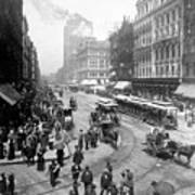 State Street - Chicago Illinois - C 1893 Art Print