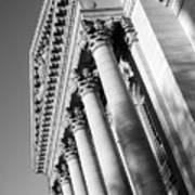Stately Colonnade Art Print