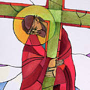 Stations Of The Cross - 02 Jesus Accepts The Cross - Mmjcs Art Print