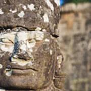 Statue At Angkor Thom Art Print