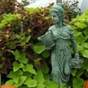 Statue At Kelly Gardens Chuckatuck Art Print