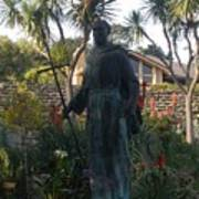 Statue At Mission Carmel Art Print