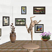 Statue Of A Dancing Girl On Ice 2 Art Print