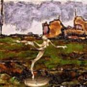 Statue Of A Zombie 2 Art Print