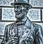 Statue Of Abraham Lincoln #7 Art Print