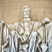 Statue Of Abraham Lincoln - Lincoln Memorial #3 Art Print
