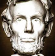 Statue Of Abraham Lincoln - Lincoln Memorial #5 Art Print
