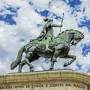 Statue Of King John I Lisbon Art Print