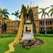 Statue Of, King Kamehameha The Great Art Print