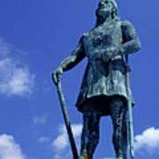 Statue Of Leif Ericksson  Art Print