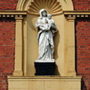 Statue Of Mother And Child Art Print
