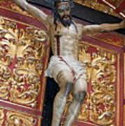 Statue Of The Crucifixion Inside The Catedral De Cordoba Art Print