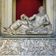 Statue Of The Greek River God Tiberinus At The Vatican Museum Art Print