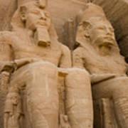 Statues At Abu Simbel Art Print