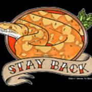 Stay Back Reticulated Python Art Print