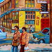 Ste. Catherine Street Montreal Art Print