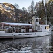 Steam Boat On Loch Katrine Art Print