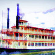 Steam Boat Art Print