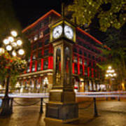Steam Clock In Historic Gastown Vancouver Bc Art Print