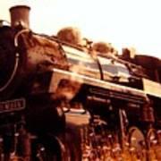 Steam Engine 3716 Art Print