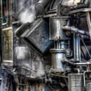 Steam Engine Detail Art Print