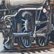 Steam Engine Wheels Art Print