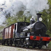 Steam Locomotive 3298 In Cornwall Art Print