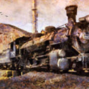 Steam Locomotive Art Print