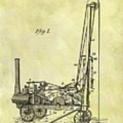 Steam Powered Oil Well Patent Art Print