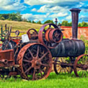 Steam Powered Tractor - Paint Art Print
