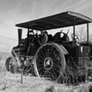 Steam Tractor Art Print