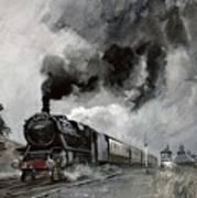 Steam Train At Garsdale - Cumbria Art Print