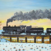 Steam Train One From Mike Massee Photo Art Print
