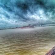 Steamboat In The Fog Art Print