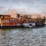Steamboat On The Nile Art Print