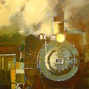 Steaming Up Mining Country Art Print