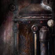 Steampunk - Handling Pressure  Art Print by Mike Savad