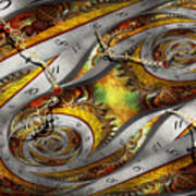 Steampunk - Spiral - Space Time Continuum Art Print by Mike Savad