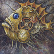 Steampunk Fish A Art Print