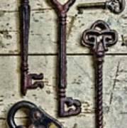 Steampunk - Old Skeleton Keys Art Print