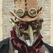 Steampunk Robot Art Print