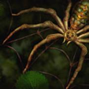 Steampunk - Spider - Arachnia Automata Art Print